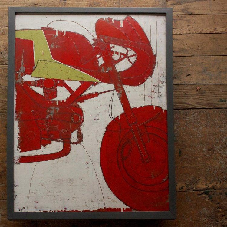 "Leggero Manhattan  25"" x 33"" Oil, graphite and wax on panel."