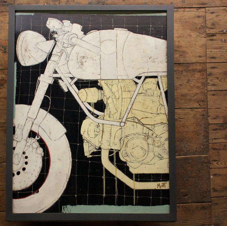 "Leggero Sydney  25"" x 33"" Oil, graphite and wax on panel."